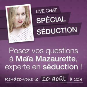 Exclusif : une experte en séduction répondra en direct à vos questions !